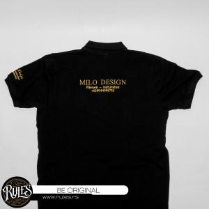 Polo majica sa vezom natpisa po zahtevu klijenta