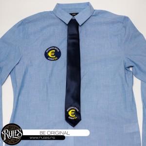 Košulja i kravata sa vezom logoa po zahtevu kupca