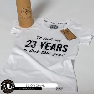 Rules majica sa štampom natpisa po ideji kupca