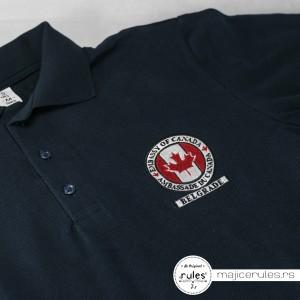 Promotivna majica sa kragnicom i vezom logoa