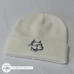 Zimska kapa sa vezom crteža po želji kupca.