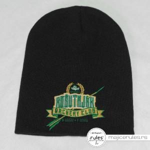 Zimska kapa sa vezom logoa urađena po ideji i želji kupca
