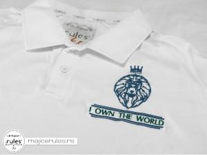 Rules majica sa kragnicom i vezom ideje kupca
