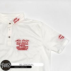 Usluga veza na polo majici po zahtevu klijenta