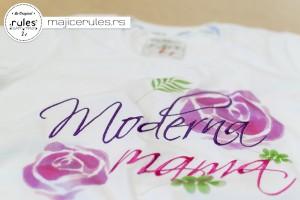 Rules majica sa kombinacijom štampe i veza
