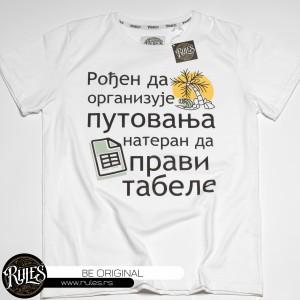 Rules majica sa stampom motiva po zahtevu klijenta