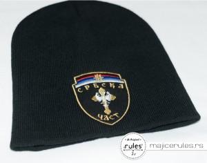 Zimska kapa sa vezom logoa po ideji i želji kupca