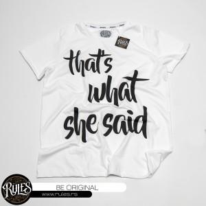 Rules majica sa štampom natpisa po želji klijenta