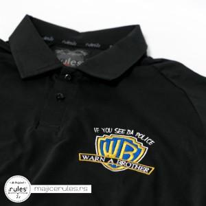 Rules majica sa kragnicom i vezom motiva po želji kupca.
