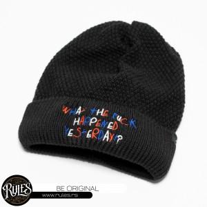 Rules pletena kapa sa vezom natpisa po zahtevu klijenta